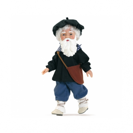 Kукла Оленчеро с бородой, 21 см