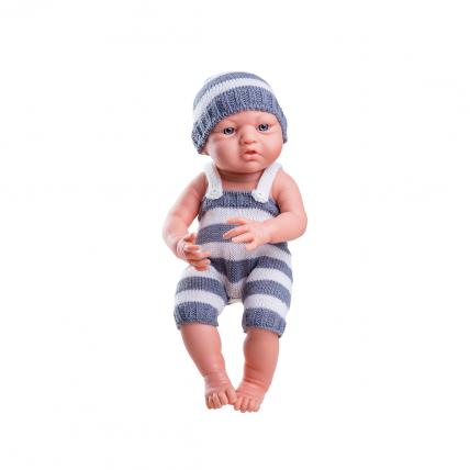 Кукла Бэби в сером, 36 см