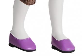 Туфли фиолетовые для кукол 32 см