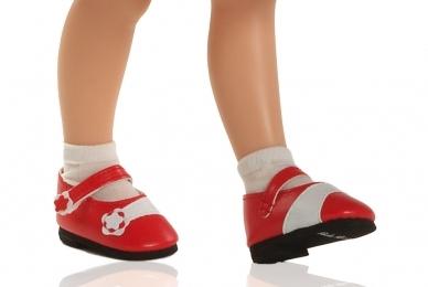 Туфли красные для кукол 32 см