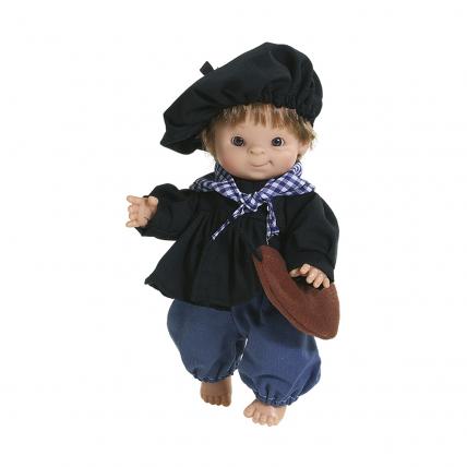 Кукла-пупс Олентцеро в баскском костюме, 21 см