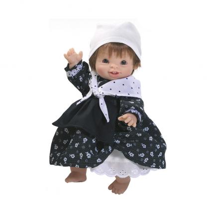 Кукла-пупс Нескита в баскском костюме, 21 см