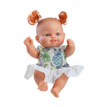 Кукла-пупс Сара, 22 см, в зелёном платье