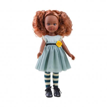 Одежда зелёное платье для куклы Кристи, 32 см