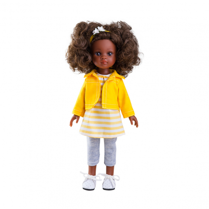 Одежда жёлтый костюм для куклы Нора, 32 см