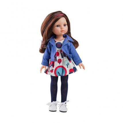 Одежда платье с джинсовой курткой для куклы Кэрол, 32 см