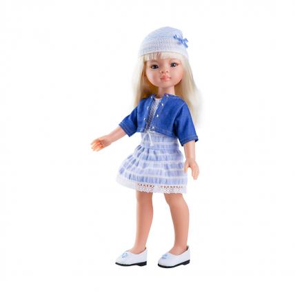 Синий костюм для куклы Маника, 32 см