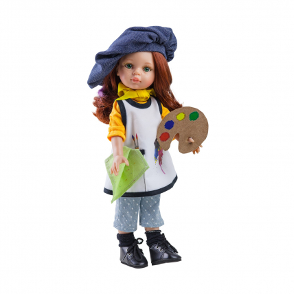 Кукла Кристи художница, 32 см