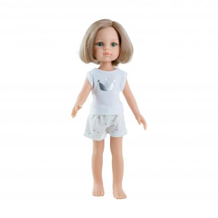 Кукла Карла блондинка, в пижаме, 32 см