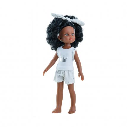 Кукла Нора с кудрявыми волосами, в пижаме, 32 см