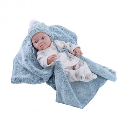 Одежда пижама с ежами для куклы Бэби, 32 см