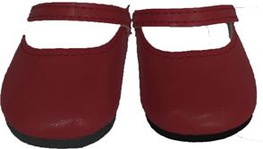 Туфли бордовые, для кукол 42 см