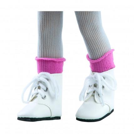 Носочки темно-розовые для кукол 32 см