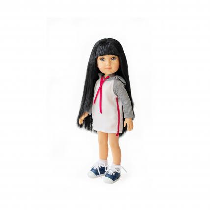 Кукла Беата с длинными темными волосами, 32 см