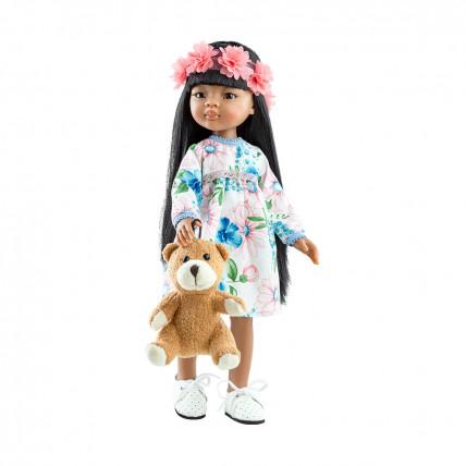 Платье и венок из цветов для кукол 32 см